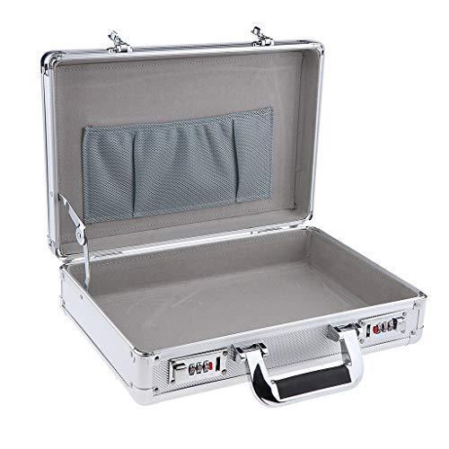 B Blesiya Hochwertig Werkzeugkoffer Transportbox Werkzeugkasten Werkzeugbox Aluminumkoffer Tattoo Tools Koffer - Silber B