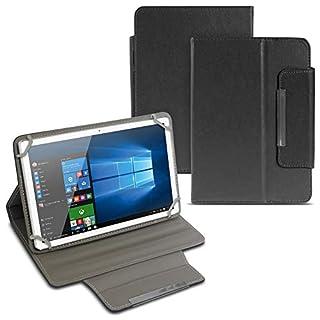 Tablet Tasche für Blaupunkt Atlantis A10.303 Hülle Schutzhülle Cover Schutz Case Magnet Universal 10.1 Zoll Klapp Etui, Motiv:Schwarz