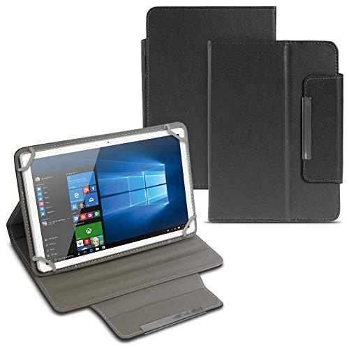 Tablet Tasche für Odys ACE 10 Hülle Schutzhülle Cover Schutz Case Magnet Etui, Motiv:Schwarz