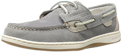 Sperry Top-Sider Women's Bluefish Sparkle Gry Boat Shoe, Grey, 5 M US (Sperry Bluefish Schuhe)