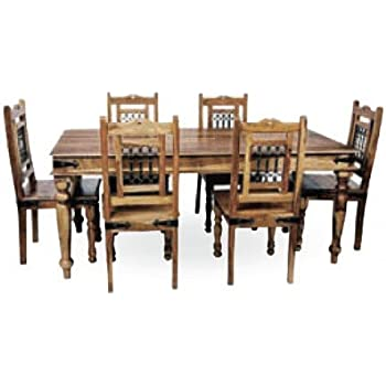 indian dining table 6 chairs. mercers furniture indian dining table and 6 chairs - rosewood, 170 cm