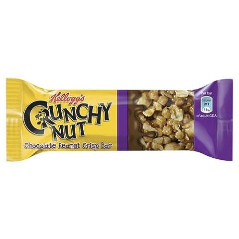 Kellogg's Crunchy Nut Chocolate Peanut Crisp Bar 35g Case of 24