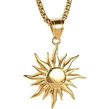 détaillant en ligne f82dd 30381 Amazon.fr : Pendentif soleil or - Livraison internationale ...