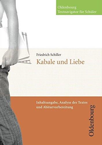 Oldenbourg Textnavigator für Schüler: Kabale und Liebe