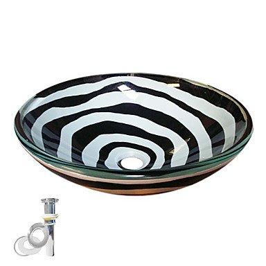 JOE Lavabi in vetro bianco e nero e popolare, l'installazione