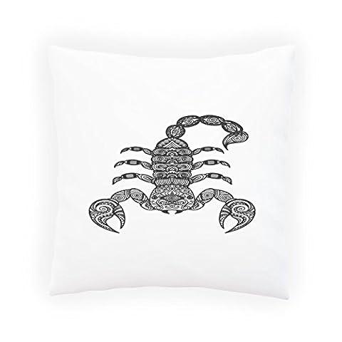 Fond de scorpion dessiné à la main Taies d'oreillers décoratif, Housse de coussin avec insérer ou sans, 45x45cm g622p