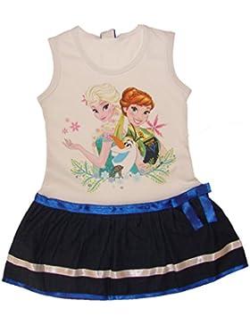 Eiskönigin Kleid mit Jeansrock ärmellos Weiss