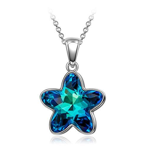 DISSONA weihnachtgeschenke Geschenk für Frauen Halskette für Frauen Swarovski Kristall modeschmuck Geburtstagsgeschenk für Frauen Freundin Mama Schwester Geschenk für Frauen Jahrestag Geschenk