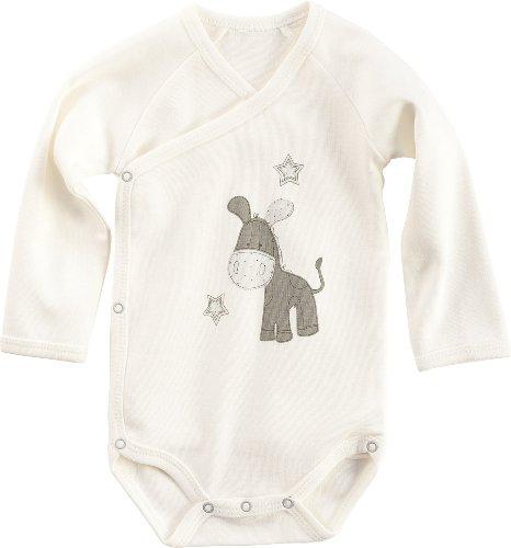 Baby Butt Wickelbody mit Druckmotiv Esel Interlock-Jersey natur Größe 62 / 68