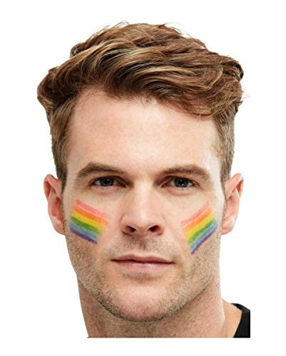 Gay Pride Zubehör - Horror-Shop Regenbogen Flagge Schminkstift - Gay