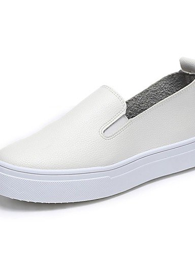 ZQ gyht Scarpe Donna-Mocassini-Casual-Comoda-Piatto-Finta pelle-Nero , white-us8 / eu39 / uk6 / cn39 , white-us8 / eu39 / uk6 / cn39 white-us5.5 / eu36 / uk3.5 / cn35