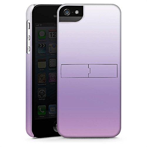 Apple iPhone 5s Housse étui coque protection Lilas CasStandup blanc