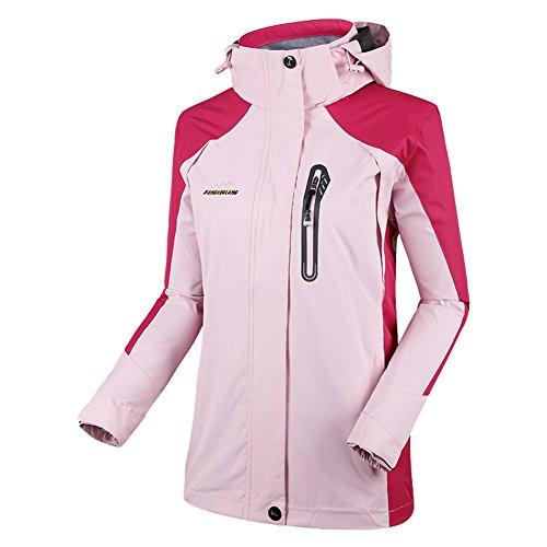 Diamond Candy, Damen-Sportbekleidung mit Kapuze, Outdoor Softshell, Wasserdichte Jacke Medium hellrosa Candy Tech