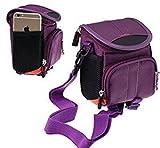 Navitech housse étui violet pour appareil photo / Digital numérique Nikon Coolpix W100