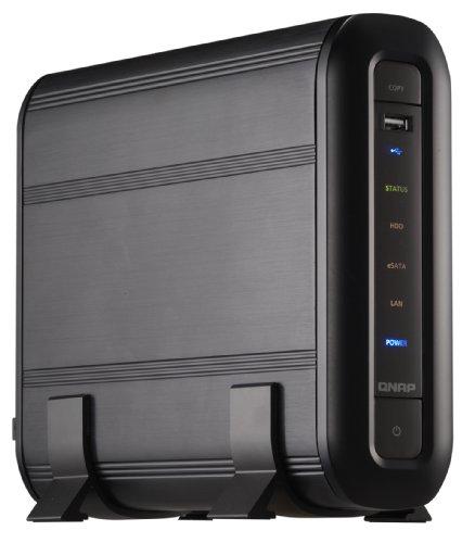 Qnap TS-119 NAS-System ohne Festplatten (1-Bay, iSCSI, eSATA, SATA, USB, Ethernet) schwarz