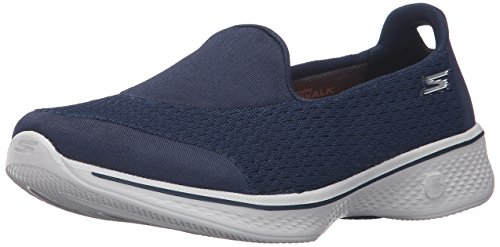 Skechers Damen Go Walk 4 - Pursuit Ausbilder, Blau (Navy/Grey), 39.5 EU -