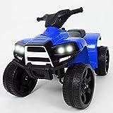 BAKAJI Quad Elettrico per Bambini Cavalcabile 6V Mini Moto Elettrica con 4 Ruote e Luci Fari Funzionanti Dimensioni 65 x 42 x 53 cm (Blu)