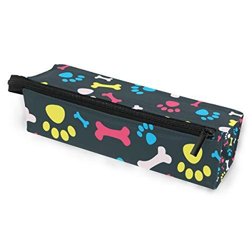 Sonnenbrille Fall Stift Federmäppchen Knochen Tier Hund Pfotenabdrücke bunte Briefpapier Beutel Aufbewahrungsbox Kosmetiktaschen Brillen Tasche mit Aufhängeöse