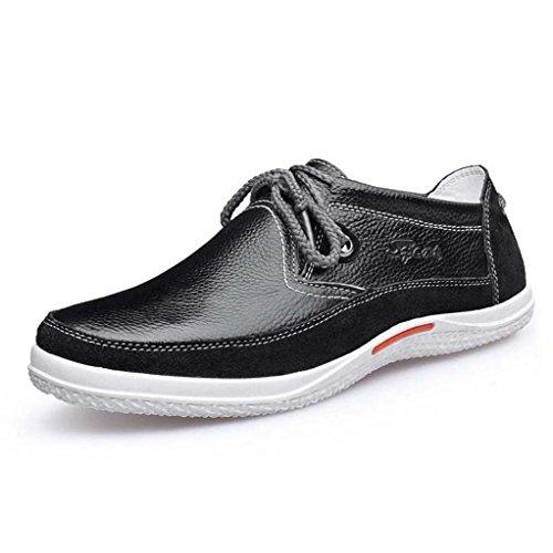 ZXCV Scarpe all'aperto Scarpe da uomo scarpe casual comode scarpe in pizzo scarpe da uomo in pelle Nero