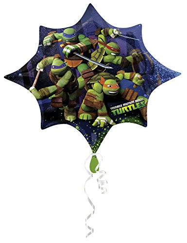 01 - Party und Dekoration - Folienballon Super Shape - Teenage Mutant Ninja Turtles, circa 88 x 73 cm ()