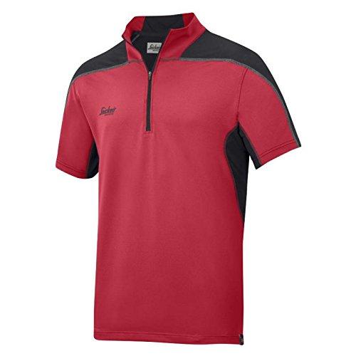 Snickers AVS Polo Shirt, Body mapp Gr. M chili-schwarz
