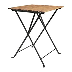 IKEA TARNO - Table pliante, acacia, acier - 55x54 cm