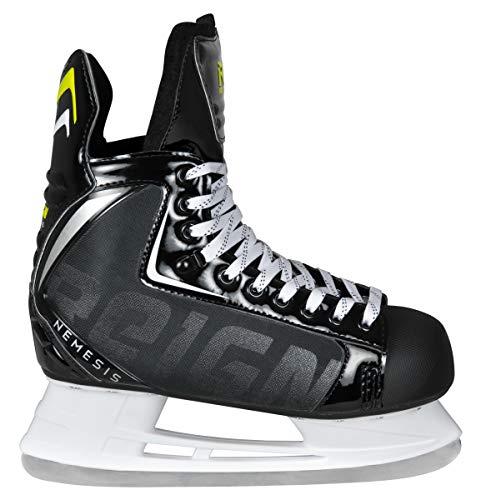 Reign Erwachsene Nemesis Hockey Skate Schlittschuhe Schwarz, 43