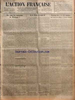 ACTION FRANCAISE (L') [No 292] du 18/10/1928 -...