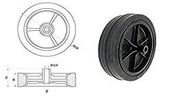 Zabi Räder für Mäher mähmaschinen / Räder für rasenmäher d = 150 mm