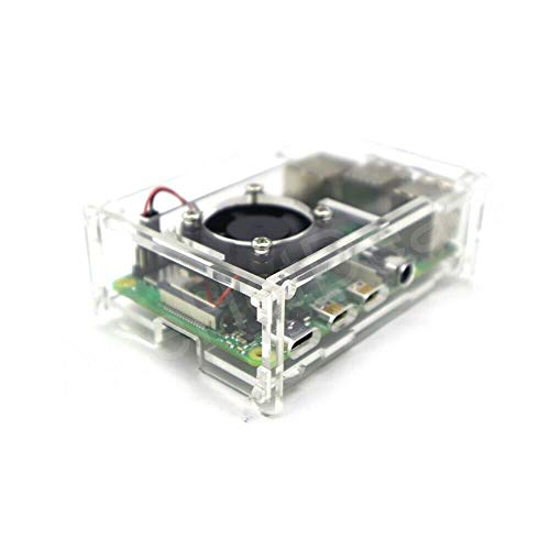 Rpi shop Raspberry pi 4 case Model B Acrylic case with fan + heatsink included