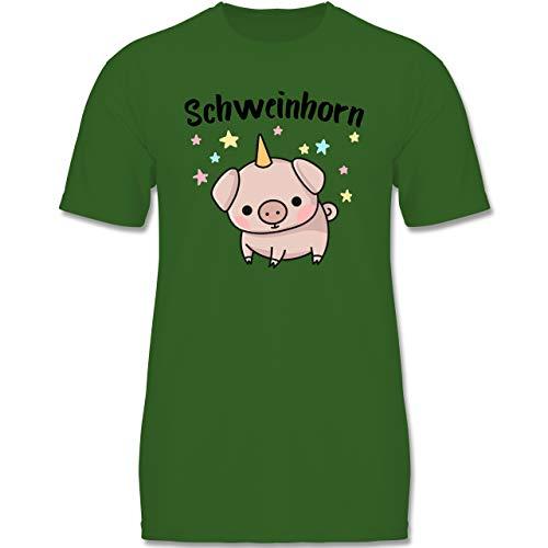 Karneval & Fasching Kinder - Schweinhorn - 122-128 (7-8 Jahre) - Grün - F140K - Jungen ()