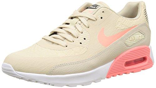 Nike Gore Tex (Nike Damen Air Max 90 Ultra 2.0 Laufschuhe, Beige Oatmeal/Lava Glow-White-Dark Grey, 38.5 EU)