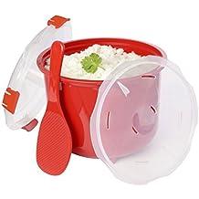 Olla para microondas coccion rapida con cesto 2,6L pollo arroz cuscús, quinoa .
