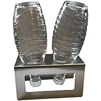 Abtropfhalter aus Edelstahl für z.B. Sodastream Crystal Flaschen Flaschenhalter