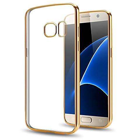 Chrom Hülle Samsung Galaxy S4 Tasche Ultra Slim Schutz Cover TPU Case Silikon Metallic Schutzhülle Chrome Handyhülle (Gold)