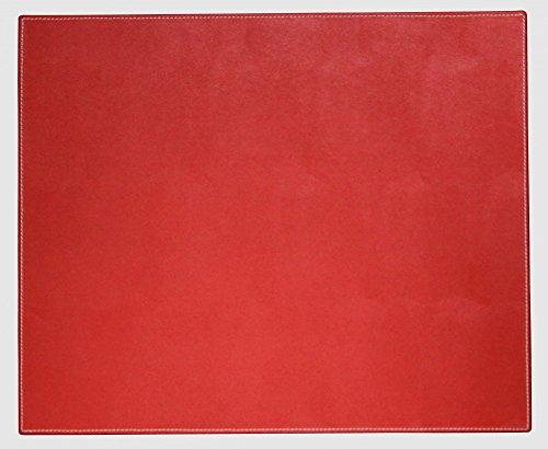 """Dacasso piel sintética de colores 17""""x 14""""–alfombrilla para ordenador portátil de mesa–Esterilla protectora, Rossa rojo"""
