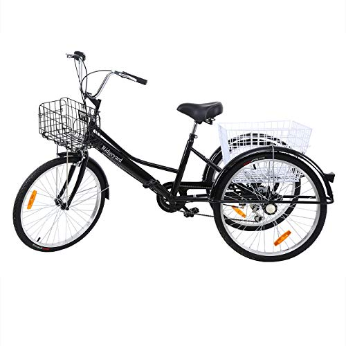 Yonntech 24' Tricycle Adulte 7 Vitesses Gears...