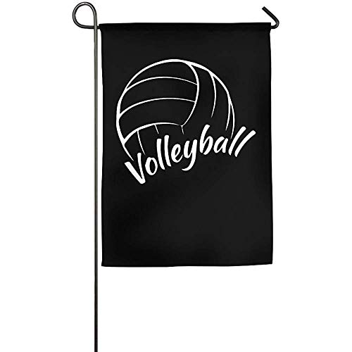 momnn Love is Volleyball Home Garden Flag Decorative for Indoor Outdoor Welcome Game Flag 12x18 inches