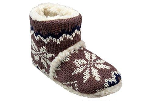 Gibra ® chaussons chauds pour femme-marron-taille 37/38 à 41/42 Marron - Marron