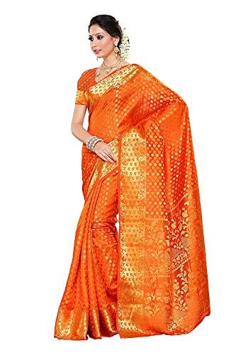 Pink-Lotus Women's Silk Saree (198-Lorg_Light Orange) -