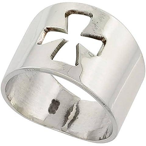 Cigar-Anello in argento Sterling, taglio a croce