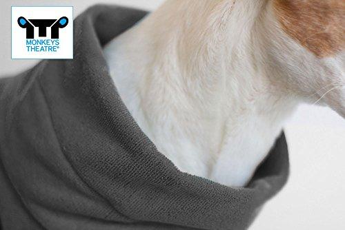 Hundebademantel Gr. 6: ab ca. 69 cm Rückenlänge – trocknet auch den Bauch! geeignet für sehr große Hunde z.B. Berner Sennenhund, weibl. Neufundländer - 3