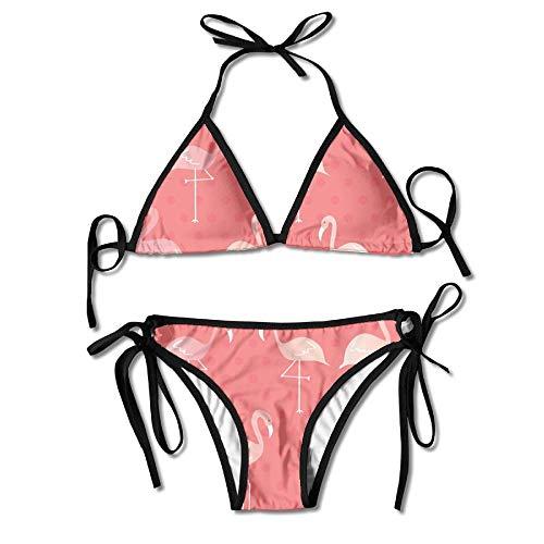 Fashion Wonder Flamingos Women Sexy Low Waist Bandage Bikini Beachwear Swimsuit