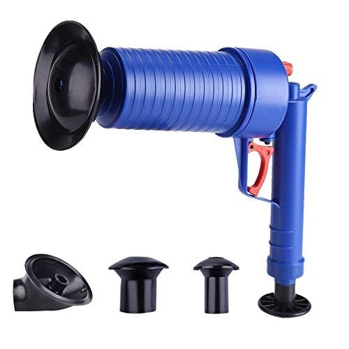 Zerodis Druckluftpistole für Abflussreiniger, leistungsstark, manueller Abflussöffner, Pumpe, Abflussreinigungswerkzeug mit 4 verschiedenen Größen