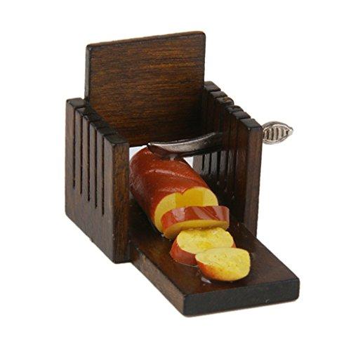 Laib Brot Slicer (CUTICATE Puppenhaus Miniatur Küche Zubehör Brot Laib Toast Cutter Slicer 12.)