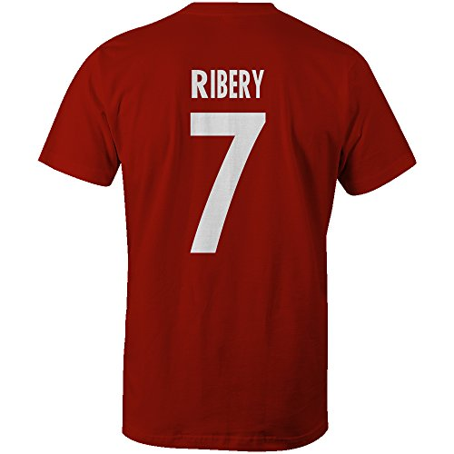 Franck Ribery 7 Club Player Style T-Shirt Red/White, X-Large