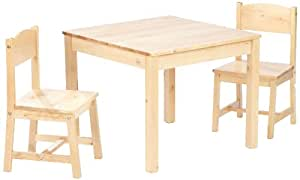 Kidkraft 21221 - Ensemble table et 2 chaises aspen - naturel