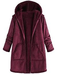 DOGZI Abrigo Mujer Invierno Elegantes Sudadera Invierno Mantener Caliente Lana Caliente Abrigo De Algodón Cardigan Felpa