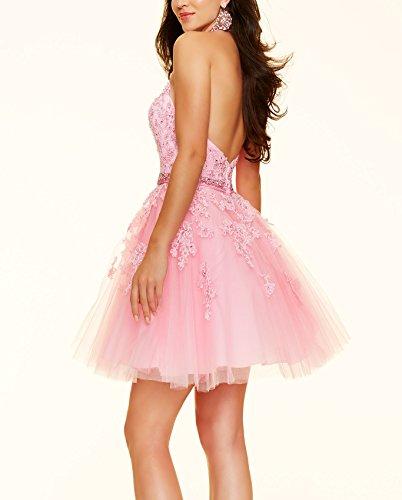 Bridal_Mall -  Vestito  - linea ad a - Donna Pink