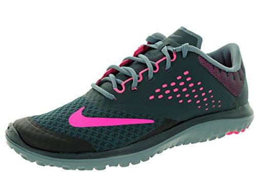 Nike  Fs Lite 2, Chaussures de course femme - Black-Pink